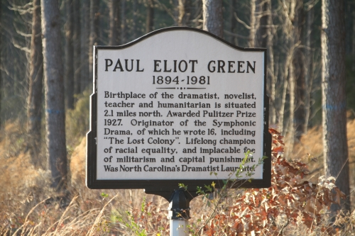 Paul Green historical marker