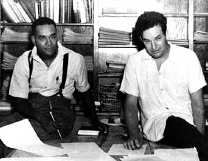 Richard Wright and Paul Green, working on Native Son